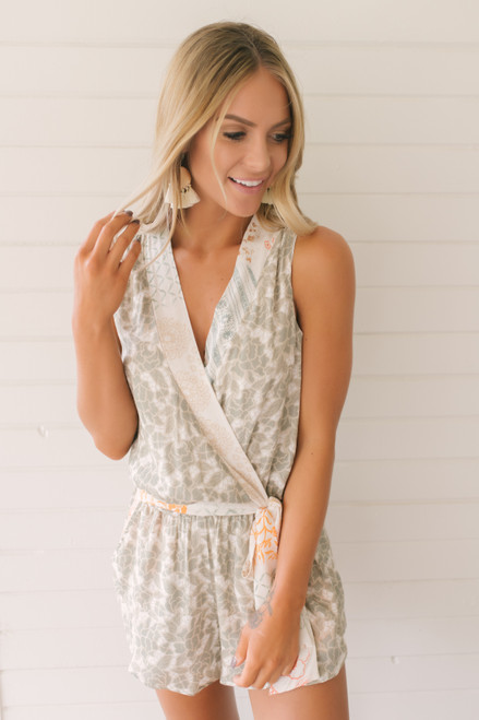 Wanderlux Napa Romper - Green Garden - FINAL SALE