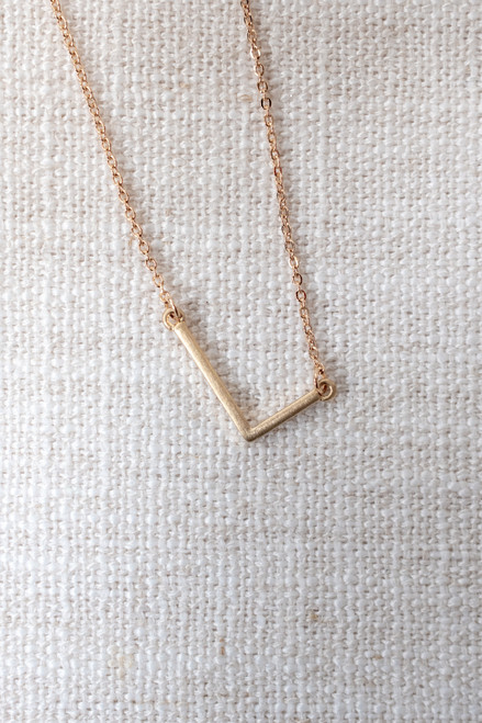 Say My Name Mini Initial Necklace - Gold - FINAL SALE