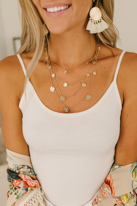 Layered Coin Necklace - Gold