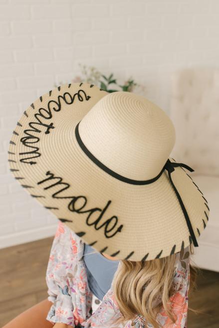 Vacation Mode Floppy Hat - Natural/Black
