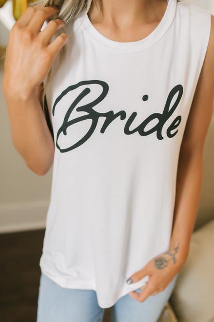 Soft Knit Bride Tank - White