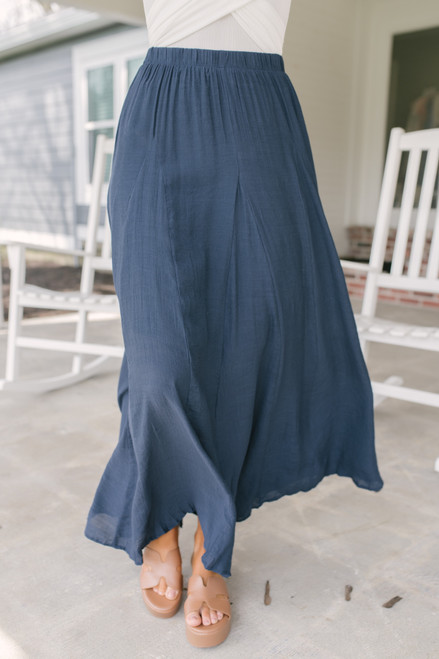 Napa Valley Maxi Skirt - Navy