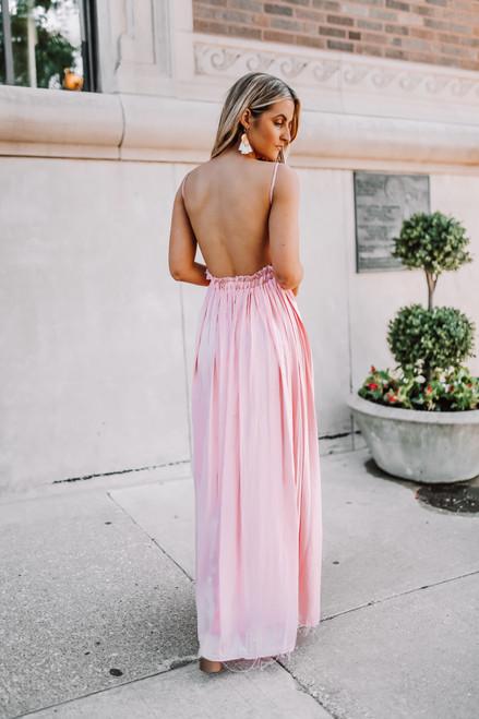 Savannah Breeze Crochet Detail Maxi - Pink