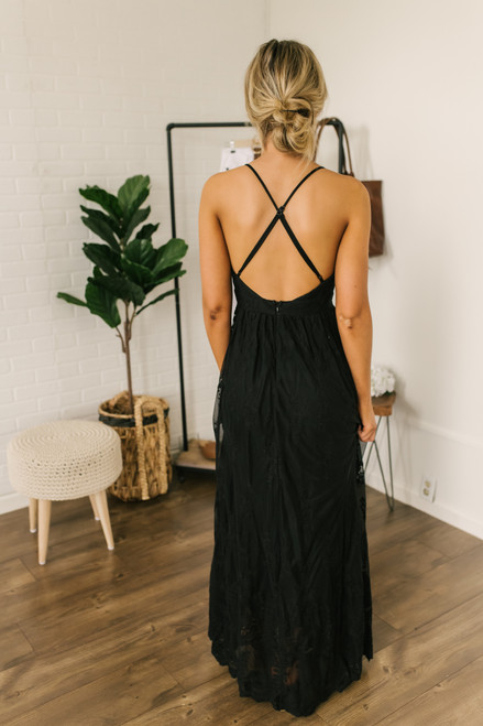 Fields of Tuscany Lace Maxi - Black