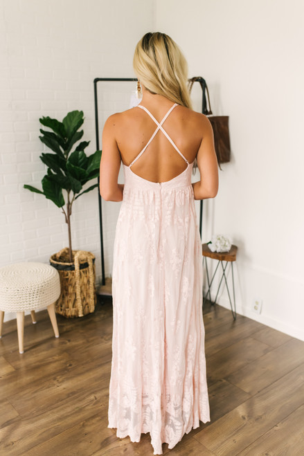 Fields of Tuscany Lace Maxi - Blush