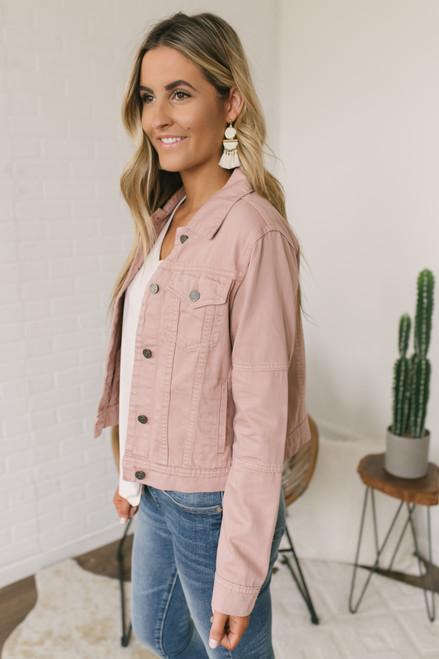 Wild Romance Denim Jacket - Dusty Pink - FINAL SALE