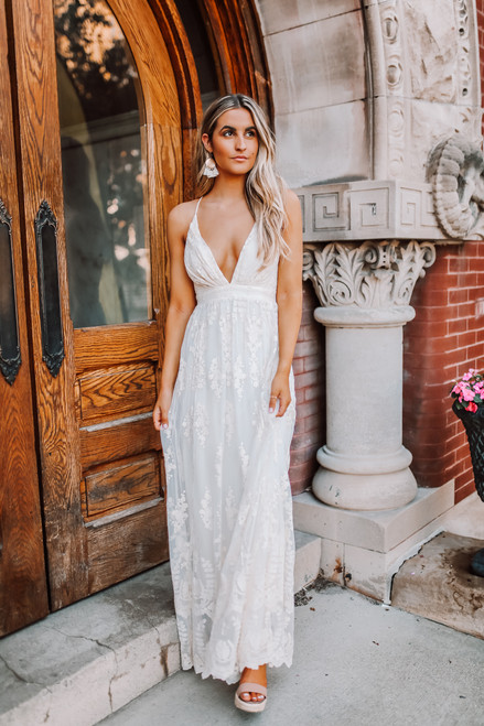 Fields of Tuscany Lace Maxi - Cream