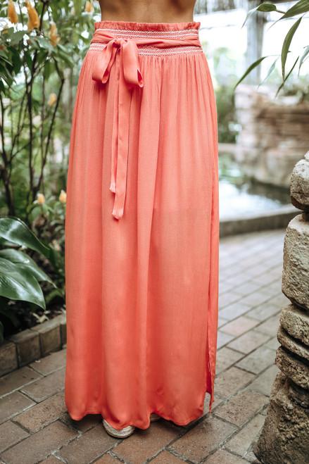 Sadie & Sage Shea Maxi Skirt - Orange