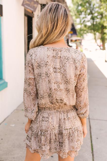 Sadie & Sage High Street Snakeskin Dress - Ash  - FINAL SALE