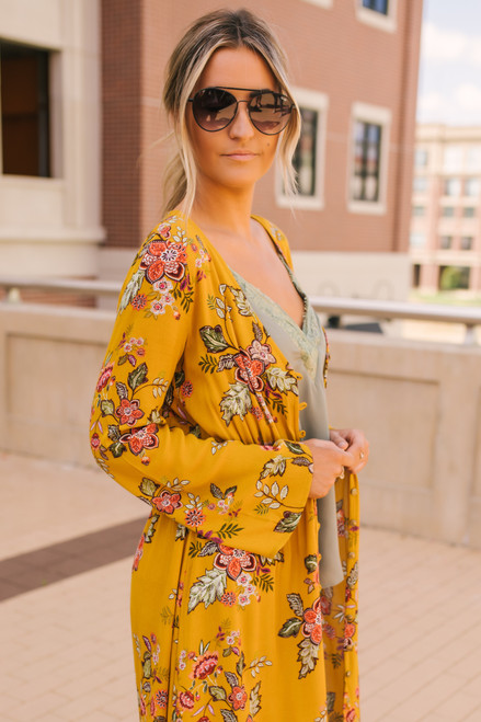 Sadie & Sage Portobello Road Floral Kimono - Honey  -  FINAL SALE