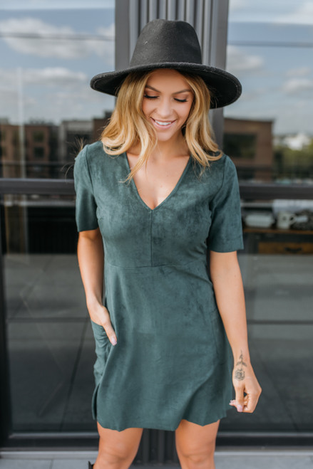 Sadie & Sage Beat Goes On Dress - Forest Green