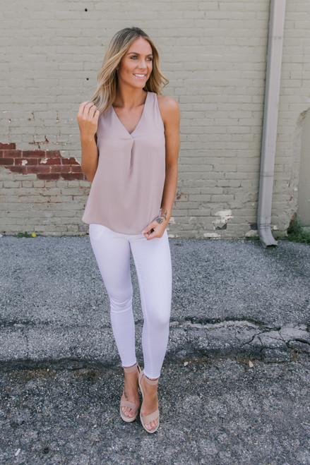 Catalina Island Skinny Jeans - White - FINAL SALE