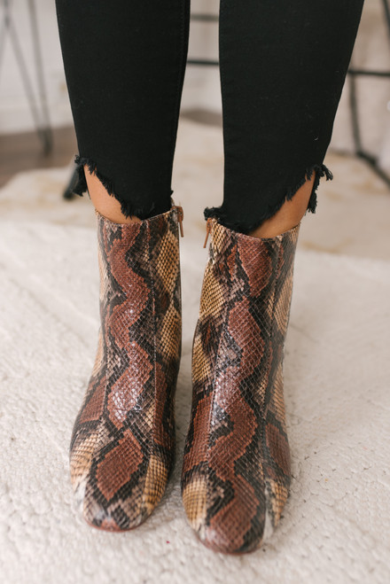 Chinese Laundry Davinna Booties - Snakeskin - FINAL SALE
