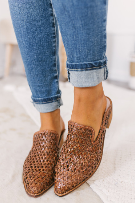 Chinese Laundry Miller Mules - Cognac  - FINAL SALE