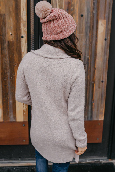 Two Tone Double Button Cardigan - Oatmeal