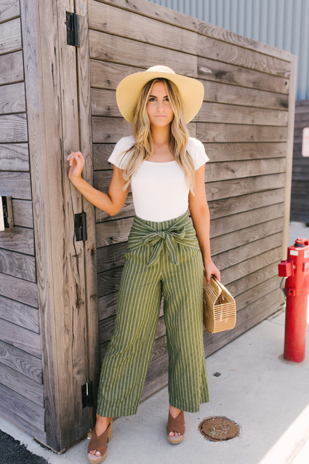 Sage the Label La Dolce Vita Pant - Olive  - FINAL SALE