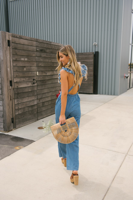 Sage the Label Blue Coast Jumpsuit - Blue