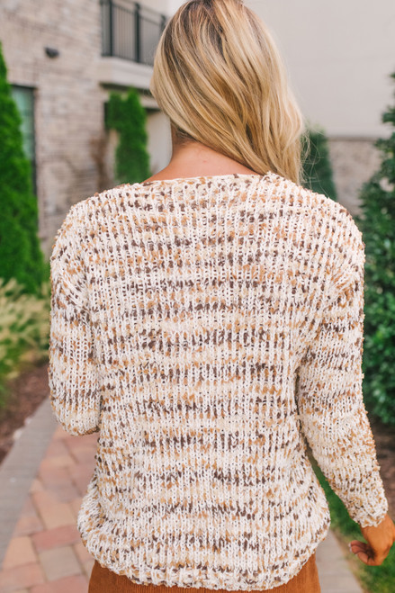 Sage the Label Zoey Sweater - Beige Multi  - FINAL SALE