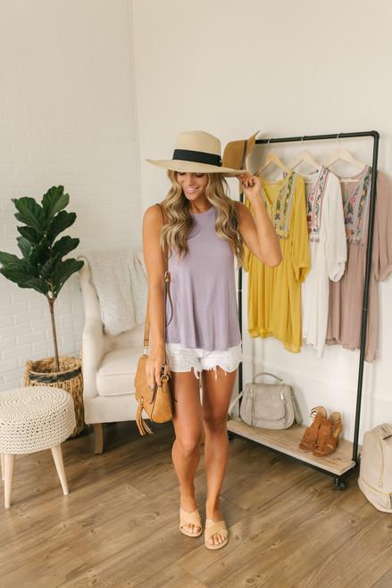 Summer Catch Swing Tank - Lavender- FINAL SALE