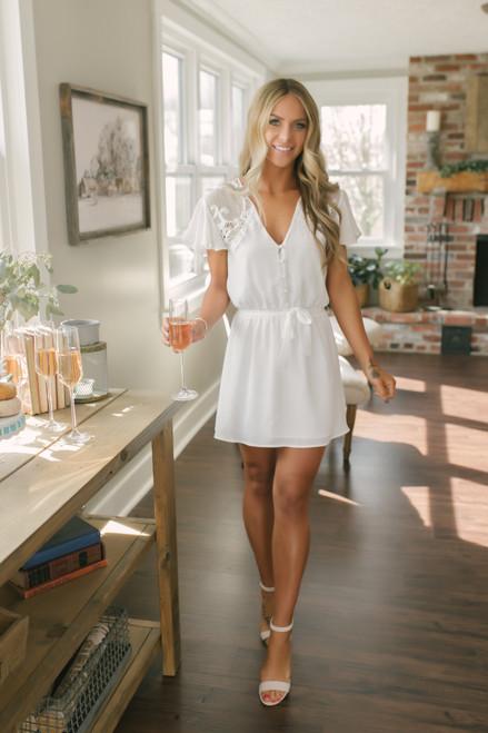 BB Dakota First Impressions Lace Dress - Ivory  - FINAL SALE