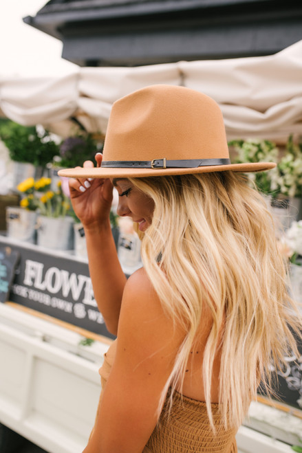 Maiers Belted Panama Hat - Camel