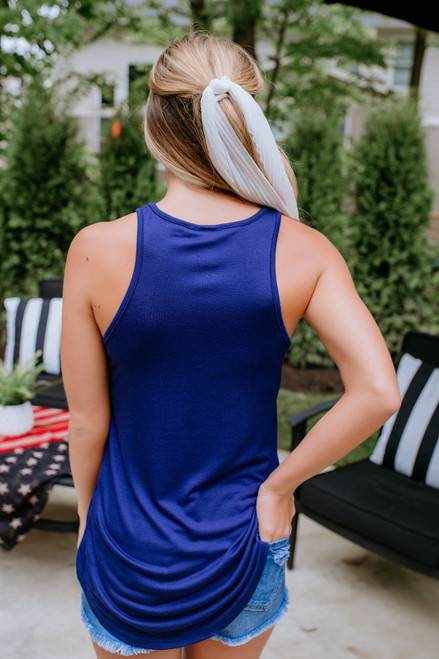Star Spangled USA Tank - Navy
