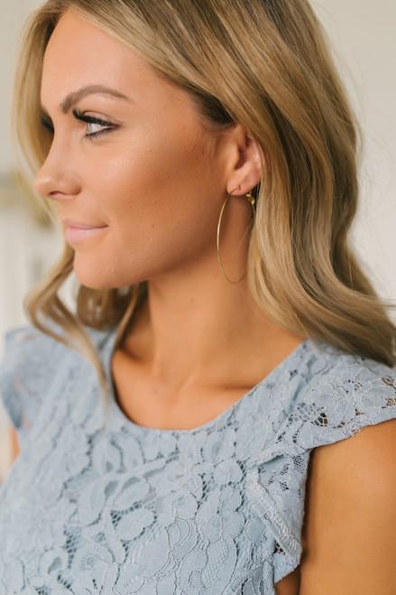 Dainty Hoop Earrings - Gold