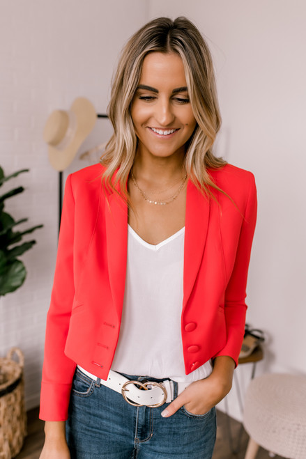 FLETCH Brooklyn Crop Jacket - Red - FINAL SALE