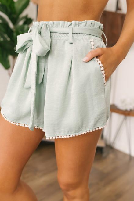 Wanderlux Madison High Waist Shorts - Fern