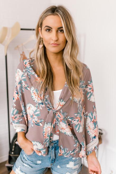 Wanderlux Covance Kimono - Teal Blossom