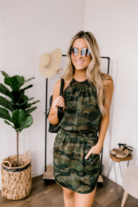 Wanderlux Evert Dress - Camo - FINAL SALE