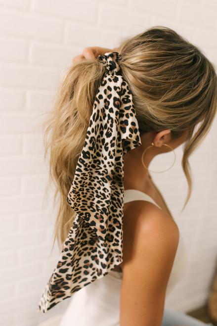 Leopard Hair Tie Scrunchie - Brown Multi