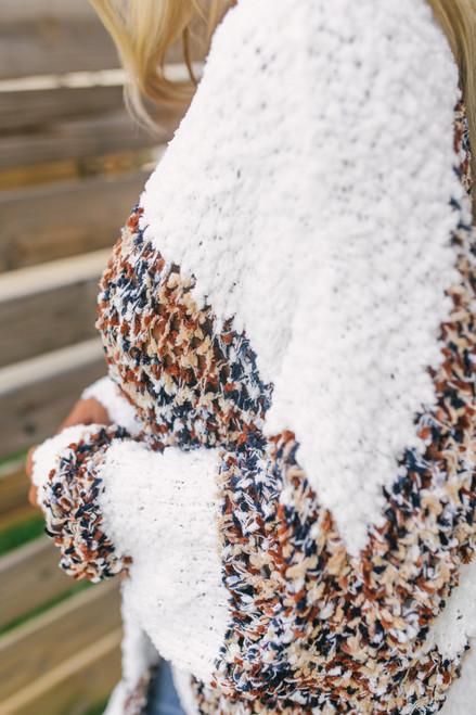 Confetti Colorblock Cozy Cardigan - Taupe Multi - FINAL SALE