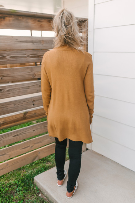 That Fall Feeling Pocket Cardigan - Camel