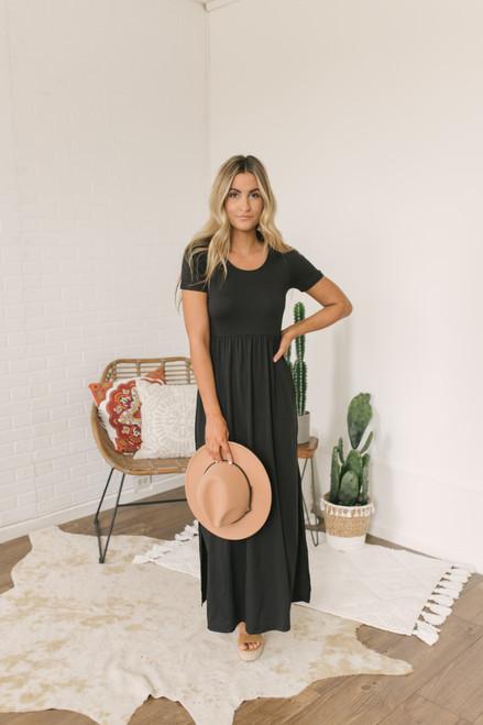Season's of Change Maxi Dress - Black - FINAL SALE