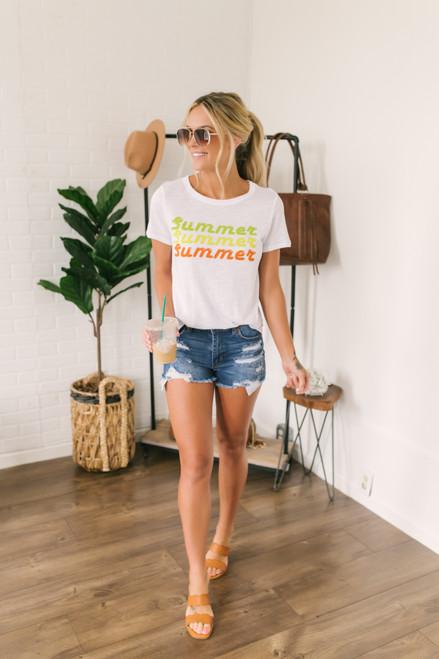 Summer Citrus Graphic Tee - White
