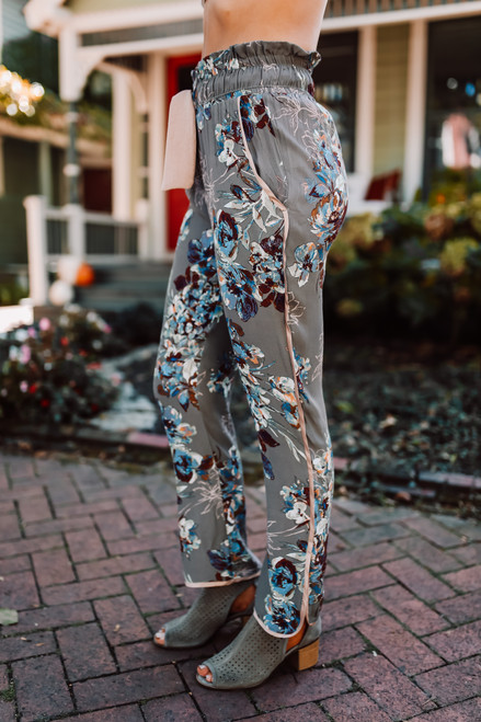 Wanderlux Loma Pants - Olive Rose