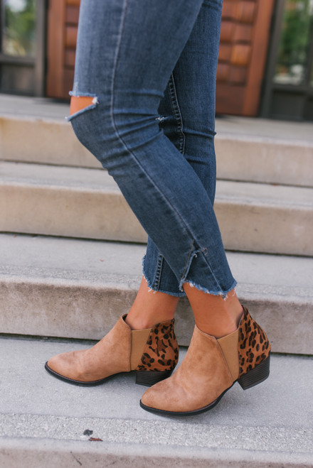 Chinese Laundry Corbin Leopard Booties - Camel - FINAL SALE
