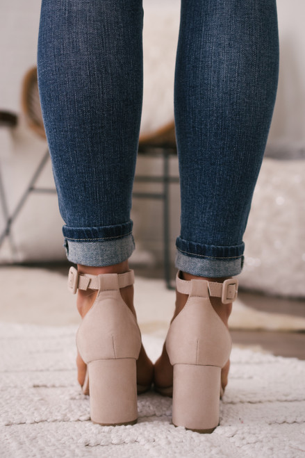 Chinese Laundry Jody Faux Suede Heels - Nude - FINAL SALE