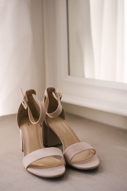 Chinese Laundry Jody Faux Suede Heels - Nude - FINAL SALE