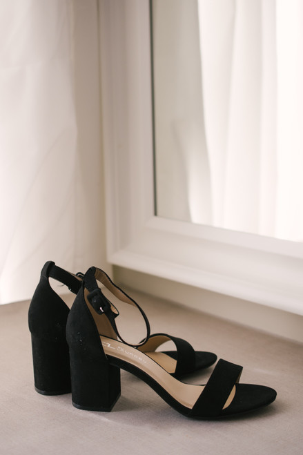 Chinese Laundry Jody Faux Suede Heels - Black