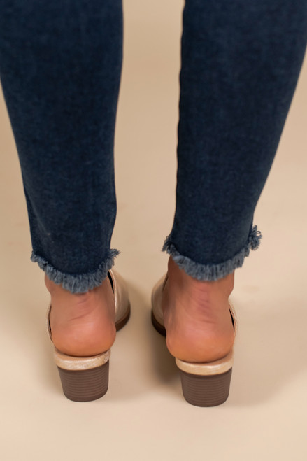 Chinese Laundry Catherin Mules - Champagne