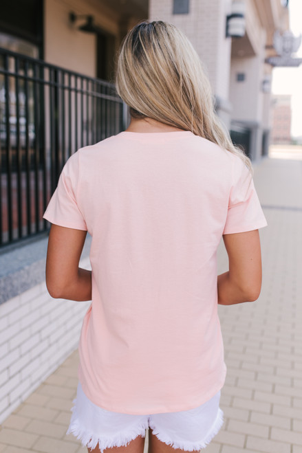 Good Vibes Only Tee - Peach Pink - FINAL SALE