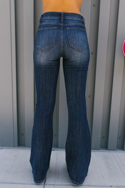 Eastern Wind Faded Bootcut Jeans - Dark Wash -  FINAL SALE