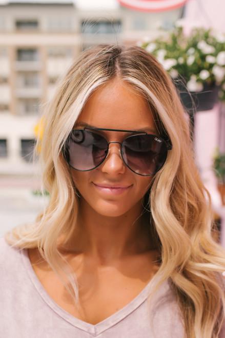 Quay Lickety Split Aviator Sunglasses - Black