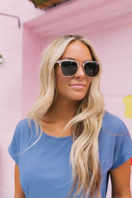 Quay Evasive Square Sunglasses - Clear