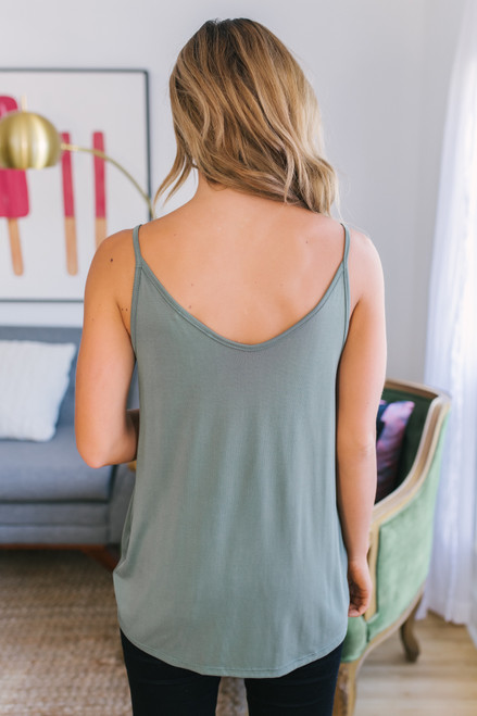 Road Trip Knotted Tank - Olive - FINAL SALE