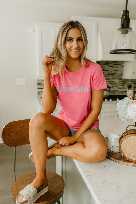 BB Dakota Day Dreaming Wednesday Tee - Bright Pink -  FINAL SALE