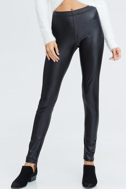 Signature Faux Leather Leggings - Black - FINAL SALE