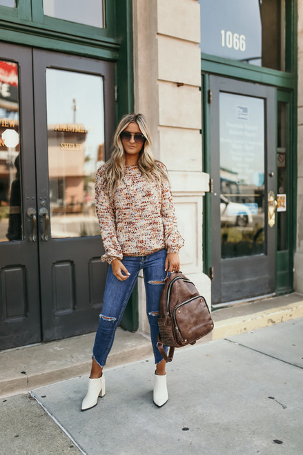 Desert Sunset Confetti Sweater - Cinnamon Multi